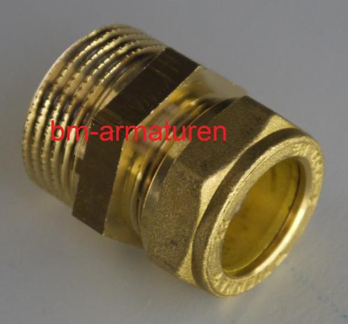 Kupfer Solar Klemmverschraubung 28mm 1 Aussengewinde Bm Armaturen